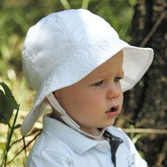 【レビューでメール便送料無料可】UVカット 帽子(子供用) - キッズ こども 子供 ハット - トドラー サウスウェスター 子供 kidsカラー:プレイン ホワイト※紫外線カット(UVカット)最高値UPF50+