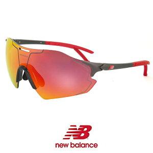 ニューバランス スポーツサングラス 軽量 フレームレス nb08081-c04 New Balance メンズ レディース ニュー バランス new balance nb08081-004 シールド型 1枚レンズ 自転車 バイク ゴルフ ランニング テニス ミラーレンズ