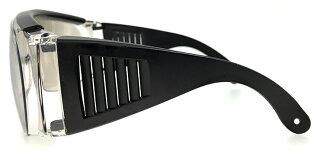 ☆☆☆オーバーグラスサングラス[メガネの上から着用可能]メンズレディースサイドガード花粉防塵にもオススメミラーレンズクリアzo7106-3