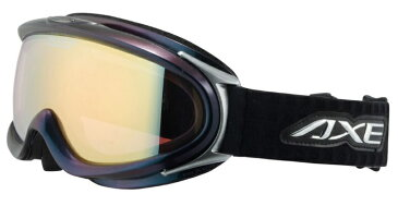 偏光 ゴーグル 日本製 [眼鏡 の上から着用可能] AXE アックス ax888 wmp BK / 偏光レンズ スノーゴーグル /スキー,スノボー,ミラーレンズ/メンズ