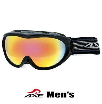 偏光 スノーゴーグル メンズ 男性用 AXE アックス omw-460p [ スキー スノボー ゴーグル 偏光ミラーレンズ ]
