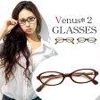メガネ レディース オーバル型 [ 女性用 眼鏡 ] 薄型 UVカットレンズ付き おしゃれ [ 度付き・伊達メガネ・クリアサングラス・老眼鏡として 対応可能 ] venus! venus! 1176