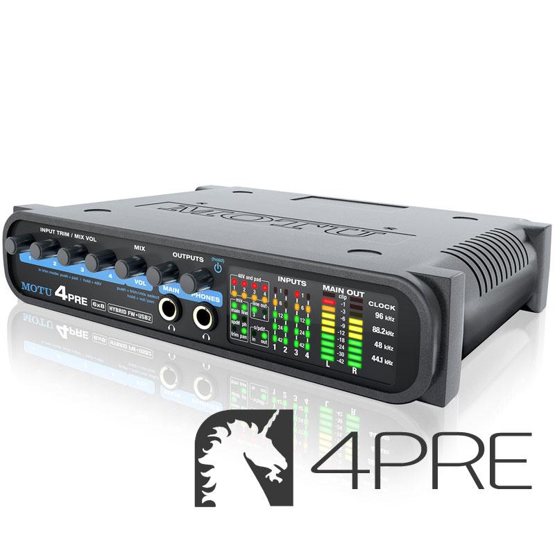 DAW・DTM・レコーダー, オーディオインターフェイス MOTU 4PRE
