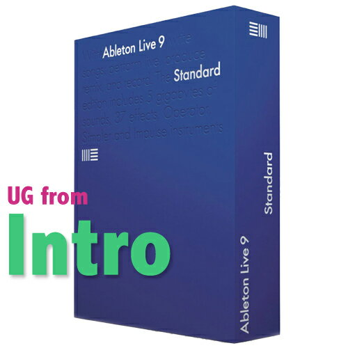 ABLETON LIVE 9 STANDARD UG from INTRO/LE パッケージ版 安心の日本正規品!UPGRADE