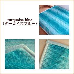 【送料無料】西川軽量ローズ毛布ターコイズブルー