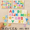 木製パズルシリーズ ABCパズル 数字パズル【エドインター】【出産祝い】