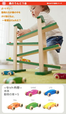 木のおもちゃ スロープ 車 送料無料(北海道は送料500円・沖縄は対象外) 森のうんどう会 エドインター 出産祝い 【あす楽対応】