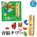 知育玩具 3歳 木製 パズル おもちゃ 送料無料 (北海道・沖縄は対象外) 育脳タワー エドインター 出産祝い 【あす楽対応】