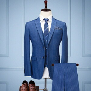 【期間限定!マスクプレゼント中】メンズ スーツ ストライプ 結婚式 セットアップ メンズ スリーピーススーツ 3点 リクルート 卒業式 紳士服 リクルート 就職 面接 新入社員 おしゃれ ゆったり 大きいサイズ 2XL 3XL 4XL【M/L/XL/2XL/3XL/4XL】代引き不可