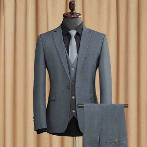 【期間限定!マスクプレゼント中】1ボタン スリム スーツ ビジネス シングル メンズ 紳士服 suit ベスト付き グレー 大きいサイズ おしゃれ 春 夏 細身 結婚式 おしゃれ グレー ブラック【S/M/L/XL/2XL/3XL】dg031g4g4d4/代引き不可