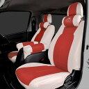 ハイエース 200系 シートカバー ツートン センターレッド HELIOS 新商品 運転席 助手席 後部座席セット 3