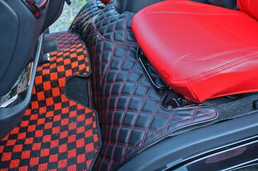 ハイエース 200系 標準用 デッキカバー フロント ダイヤカット レザー ステッチ2色
