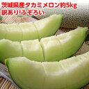 早期ご予約特価 メロン 訳あり 送料無料 ふぞろいのタカミメロン約5kg (3玉〜6玉・玉数は選べません)茨城県産 果物 フルーツ