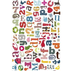 ウォールステッカー*キッズルーム(KidsLAB)■シールはがせるアニマル動物アルファベット旗フラッグフェミニンルームメイツ