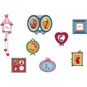 ウォールステッカー*キッズルーム(KidsLAB)「カラフルフォトフレーム」■シールはがせるアニマル動物アルファベット旗フラッグフェミニンルームメイツ