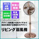 扇風機 リビング扇風機 ブロンズ レトロなメタリック扇風機 TEKNOS テクノス CHB-3030 デザイン メカ式ダイヤル インテリア扇風機