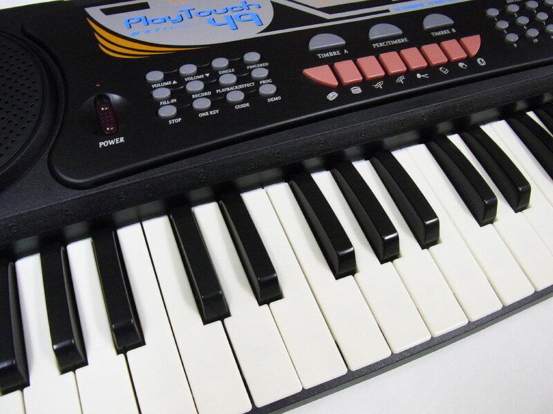 【予約販売】 電子キーボード SunRuck (サンルック) PlayTouch49 プレイタッチ49 電子ピアノ 49鍵盤 楽器 SR-DP02 ブラック 電子ピアノ