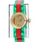 【中古】A670Tグッチ143.5ヴィンテージウェブミディアム美品レディースクオーツ式腕時計