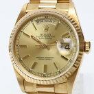 【中古】K631Tロレックスオイスターパーペチュアルデイデイト18K金無垢オートマチック腕時計純正18Kブレス箱有り