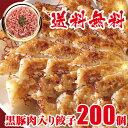 57%OFF なんと一粒当たり17円 黒豚肉入り 冷凍餃子