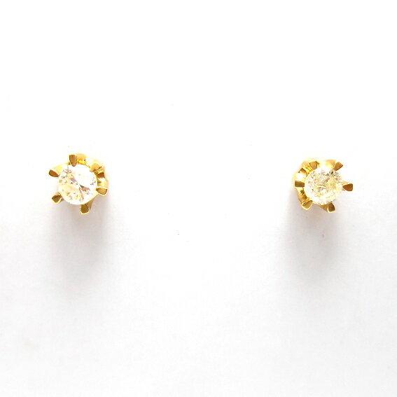 【誕生日プレゼント】【K18 18金】ピアス【ダイヤモンド】アクセサリー