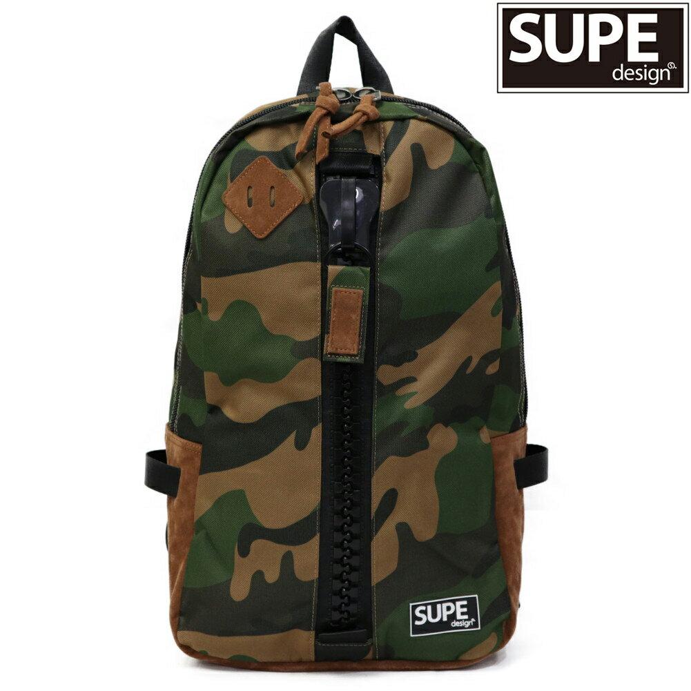 男女兼用バッグ, バックパック・リュック SUPE design 19KHAKICAMO