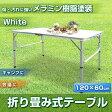 アウトドアテーブル アルミテーブル 折り畳みテーブル レジャーテーブル 幅120cm【送料無料】【あす楽】