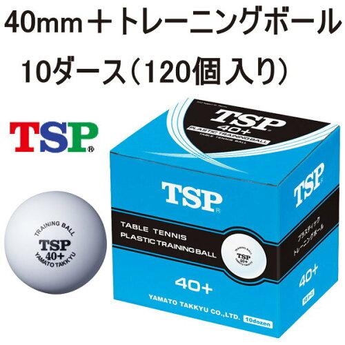 プラスチックボール 40mm+トレーニングボール 10ダース(120個) TSP 卓球ボール 練...