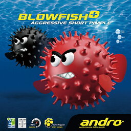 andro(アンドロ) ブローフィッシュプラス/BLOWFISH+ 卓球ラバー テンション系表ソフトラバー(テンゾーバイオス) 112265