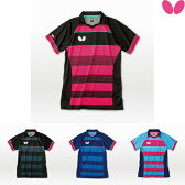 【NEW】バタフライ(BUTTERFLY) エクストライプ・シャツ 45140 卓球ユニフォーム ゲームシャツ 男女兼用 ユニフォーム 卓球ウエア