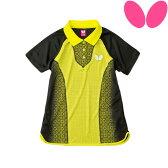 【NEW/あす楽】バタフライ(BUTTERFLY) エレワジュール・シャツ 45159 卓球ユニフォーム ゲームシャツ レディース ユニフォーム 卓球ウエア