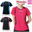 ニッタク(Nittaku) Vチェックスシャツ NW-2164 卓球ウェア ユニフォーム レディース/女子用 ゲームシャツ 卓球用品 ※290831