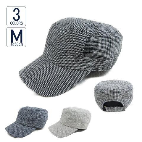 ワークキャップ 帽子 メンズ レディース 春夏 UVカット マイクロ千鳥ワーク VS1-066