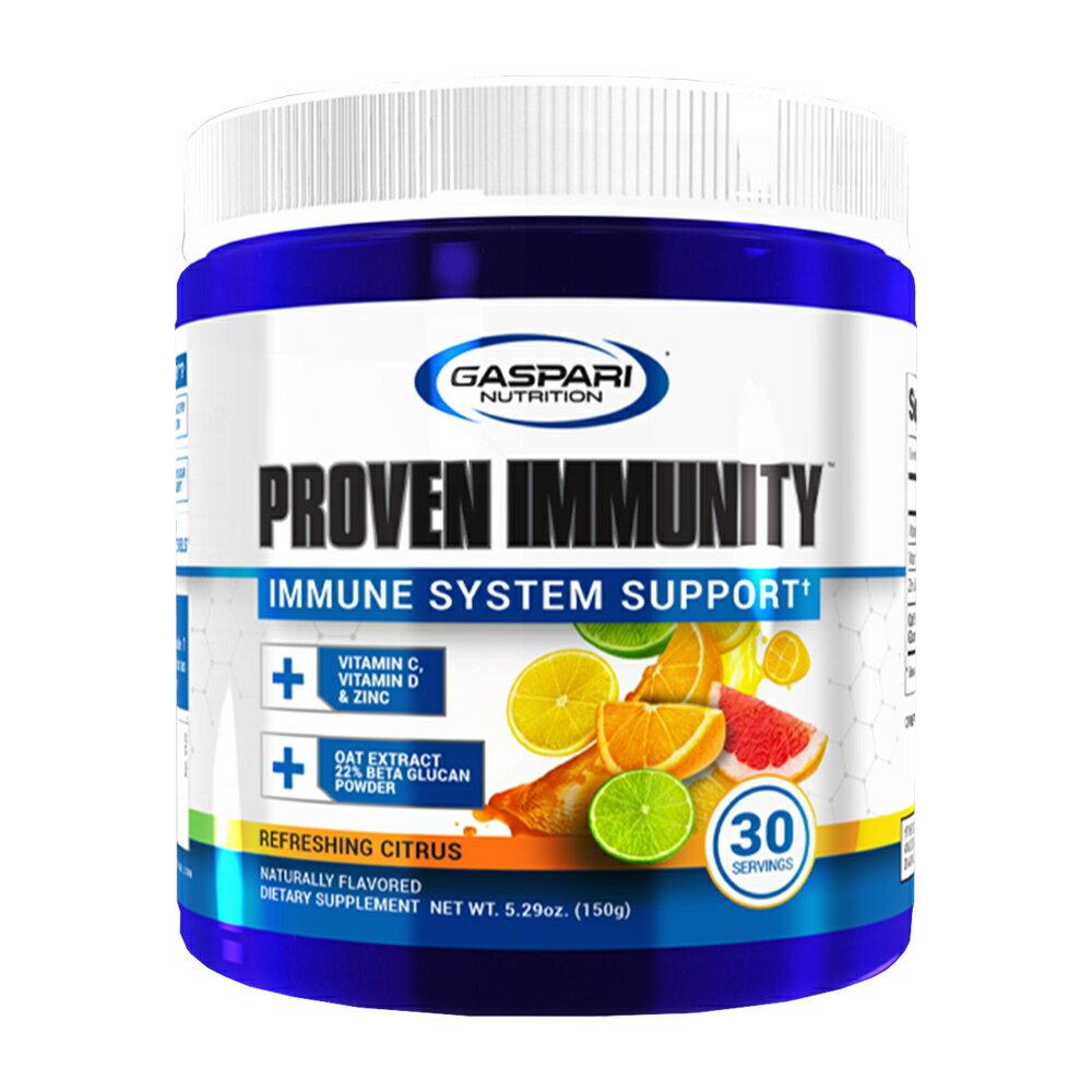 【送料無料】 ガスパリニュートリション Proven イミュニティ リフレッシュシトラス 30杯 150g【GASPARI NUTRITION】Proven Immunity、Refreshing Citrus 5.29 oz画像