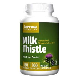 【送料無料】 ジャローフォーミュラズ 濃縮ミルクシスル 150 mg 100ベジカプセル【Jarrow Formulas】Milk Thistle 150 mg 100 Veg Capsules