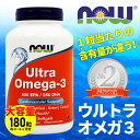 【送料無料】 ウルトラオメガ3 180粒 6本セット サプリメント dha+epa ナウフーズ【NOW FOODS】Ultra Omega-3 180 Softgels 6set 2