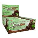 【送料無料】 クエストニュートリション プロテインバー ミントチョコレート チャンク 60g 12本入り【Quest Nutrition】Protein Bar Mint Chocolate Chunk 60g 12pcs