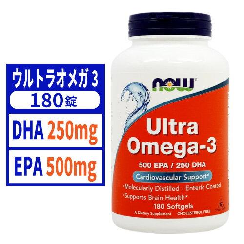 ビタミン, マルチビタミン  3 180NOW FOODSUltra Omega-3 180 Softgels