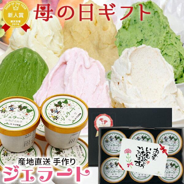 遅れてごめんね母の日ギフトプレゼントスイーツ洋菓子アイスクリームふなっこ畑手作りジェラート詰め合わせ選べる6個セットアイスお菓子