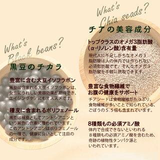 黒豆のチカラ×チアの美容効果2