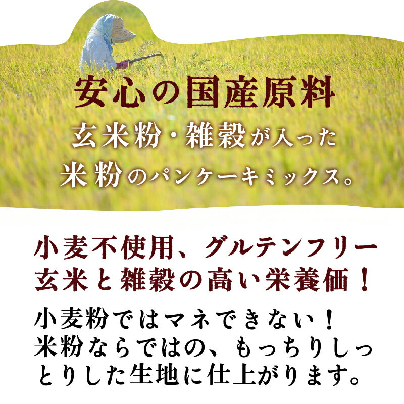 波里『玄米パンケーキミックス』