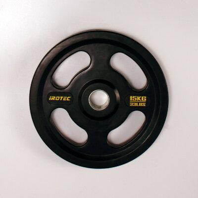 オールラバー仕様オリンピックプレート15KG/筋トレ/筋力トレーニング/ベンチプレス/ダンベル/筋力トレーニング器具