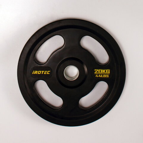 IROTEC(アイロテック)オールラバー仕様オリンピックプレート20KG/バーベル ダンベル ベンチプレス 筋トレ トレーニング器具 トレーニングマシン 鉄アレイ グッズ ウエイトトレーニング