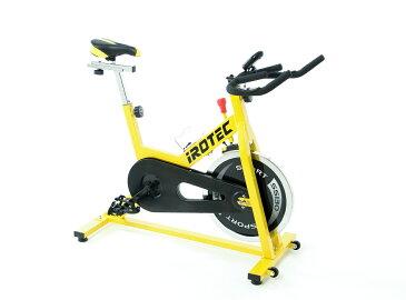 【10日はポイントアップDAY】フィットネスバイク スピンバイク 【IROTEC(アイロテック)スポーツスピン クレイジーイエロー SS130】スピンバイク インドアバイク フィットネスバイク 筋トレ エアロバイク レーサースピンバイク ダイエット器具 健康器具