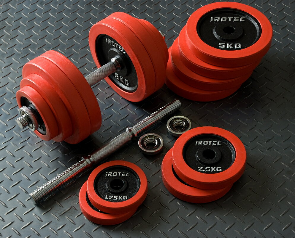【30日はポイントアップDAY】IROTEC(アイロテック)ラバーダンベル 60KG セット/ダンベル 筋トレ ベンチプレス トレーニングマシン 鉄アレイ トレーニング器具 バーベル 健康器具 筋トレグッズ 筋トレ器具 60kg 30kg×2個 20kg 2個
