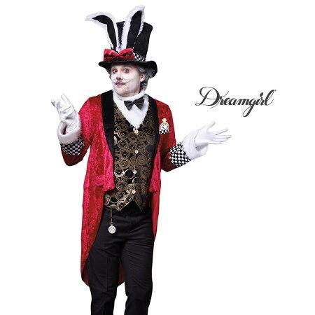 ■DreamGirl(ドリームガール)DG10649【白ウサギ2点セット:MEN'S】