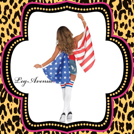 ■LEGAVENUE(レッグアベニュー)小物:WING:LA-A2797【アメリカの国旗】