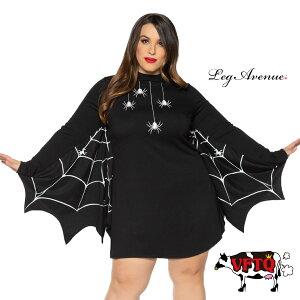 コスプレ 衣装 LEG AVENUE レッグアベニュー LA 86885X ドレス スパイダー BIG SIZE 正規品 大きいサイズ くも クモ 蜘蛛 ポンチョ ワンピース 長袖 コスチューム 仮装 かわいい セクシー ゴシック ファッション おしゃれ ハロウィン イベント パーティー XL 2L 3L 4L