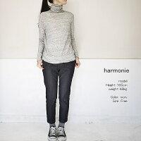 harmonie6870065アルモニウォッシャブルガーゼ天竺タートルネックカットソー