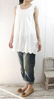 Slone square スロンスクエア scalloped lace sleeveless tunic (6,706) ladies